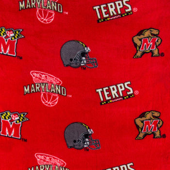Maryland Allover Collegiate Fleece Fabric